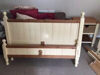 Double bed, dresser and bedside cabinet set