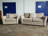 ASHLEY MANOR UPHOLSTERY DESIGNER LOUNGE SUITE 3 SEATER SOFA & SNUGGLER SETTEE CHAIR CAN DELIVER