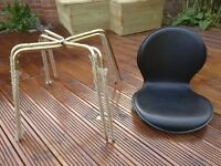 New - High quality Italian aluminium frame leather seat chairs