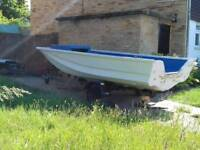 14ft dory and trailer
