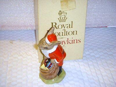 "ROYAL DOULTON   DB 17  ""SANTA BUNNYKINS"" MERRY CHRISTMAS MIB  4 1/4"""