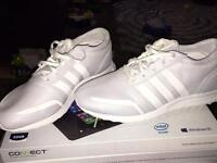 Adidas triple white Los Angeles Trainers, size 9