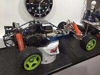 HPI Baja 5b, Alloy upgrades, Zenoah 30cc 4 bolt, LOTS of spares