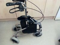 three-wheeled rollator , used,with bag,good condition.