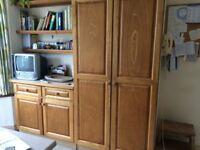 Tall kitchen larder units x2