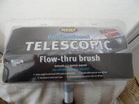 Telescopic Flow-Thru Brush Extendable windows cars etc.
