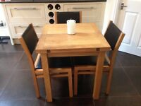 Kitchen Table and Chairs in oak from John Lewis