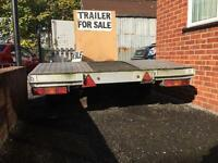 Tri axle car transporter trailer 14ft by 6ft 3.5 ton Very heavy duty