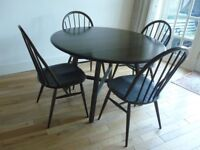 Ercol Old Colonial Drop Leaf Dining Table with 6 Chairs REDUCED!!