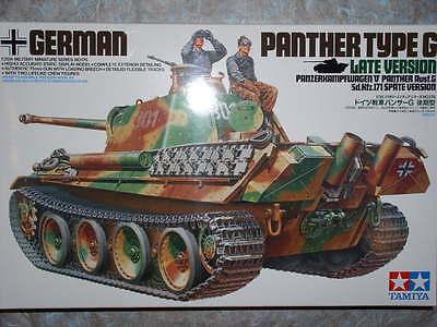 Tamiya 1/35 German Panther Type G Late Version Model Tank Kit 35176