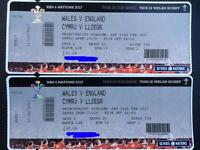 2 x Wales Vs England 6 Nations tickets