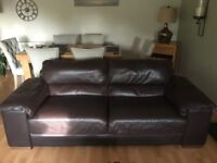 JB McLean Three Piece Leather Suite in excellent condition (2 x 2 seater settees and 1 x armchair)