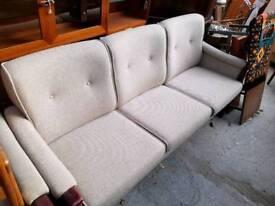 Vintage Danish Wool Rosewood Sofa