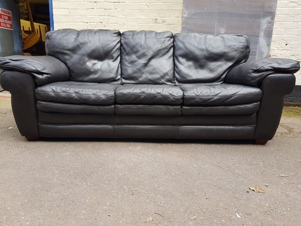 Remarkable Large Dark Brown Italian Leather Sofa Free Delivery In Derby In Mickleover Derbyshire Gumtree Gmtry Best Dining Table And Chair Ideas Images Gmtryco