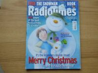 Vintage issues of Christmas Radio Times and TV Times