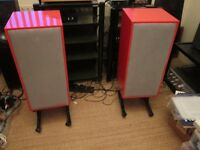 Spendor BC1 Speakers Ferrari Red Finish New Units and Rewire STUNNING Collection only