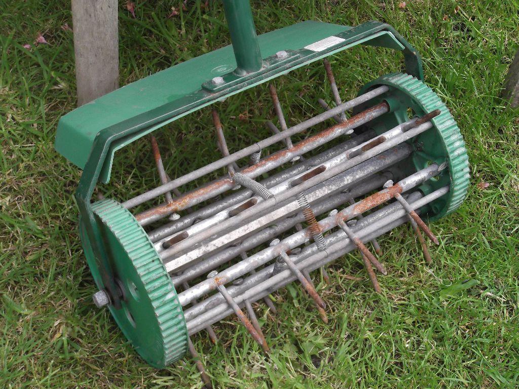 Lawn Aerator Spiker Tudor Push Along In Splott