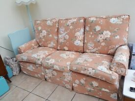 Sofa and chair vintage style floral multi york