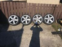 "18"" 5x112 alloys all very good tyres £325 'Audi seat Vauxhall vw Jetta Passat golf'"
