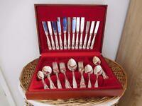 Newbridge silver plated 44 piece cutlery set in display box