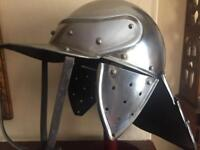 English Civil War Helmet, Heavy steel, Wearable