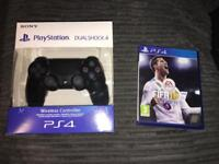 New PS4 CONTROLLER IN BOX WITH FIFA 18 PS4