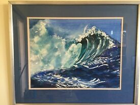 Original watercolour entitled The Wave