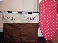 Laundry Basket & Mini Portable Ironing Board
