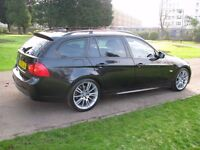 BMW 318D M Sport Business Edition Touring 12 Months mot FSH Metallic Black Full Leather interior