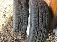 Set of 4 mini one alloy wheels with very good tyres