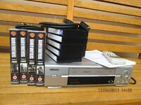 Toshiba VHS player/recorder VT-FX240EUK and tapes