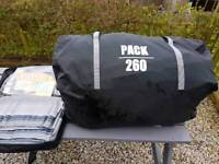 Pack 260 caravan awning plus new breathable ground sheet.