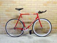 Chesini fixed gear track bike / fixie / single speed 58cm - Campagnolo, Cinelli components
