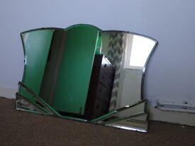 Original art deco bevelled mirror