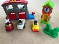 Fisher Price Little People Fire Station & ELC Happyland Clock Tower