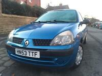 2003 Renault Clio1.2 ONLY 66k Miles. 12 Months MOT. Drives Superb.