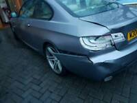 2011 BMW 320d m sport - non structural damage spares repairs - 129k fsh + idrive nav + leather + 19s