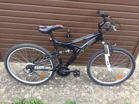 Raleigh Mission Full Suspension Mountain Bike, Fully Serviced, Free Lock, Lights, Delivery