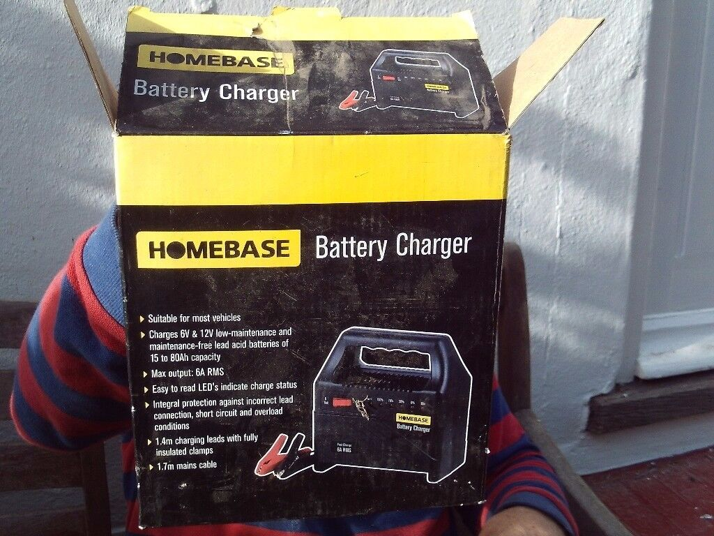 Homebase car battery charger - new in box