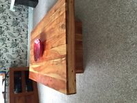tv cabbnet and table oak from next