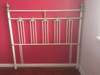 Metal Head Board for a double divan bed excellent condition