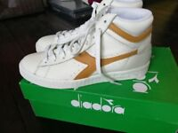 Diadora high tops, size 5, brand new in box