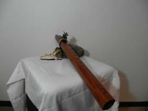 Native American Style Flute is concert tuned to the Key of Low D -- Dragon Totem
