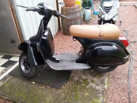 Black Vespa PX200e for sale (may break if enough interest)
