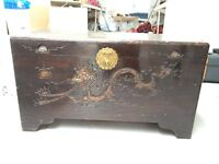 Beautiful Chinese Chest/ Blanket Trunk with Dragon Carvings