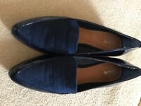 NEXT Ladies Shoes, size 7 in blue, worn once excellent condition