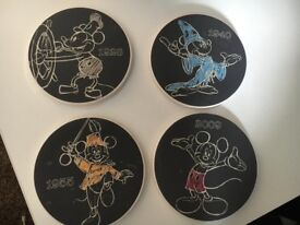Set of 4 Mickey Mouse Coaster Set
