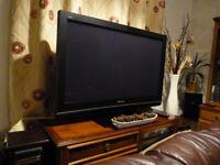 TV, Panasonic Viera with Freeview box,