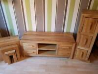 Matching oak furniture in good condition