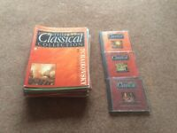 Classical collection CDs and accompanying magazines
